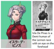 Isla De Pinos is a demi human race Lennon with eye on forehead