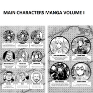 Main Characters Manga Volume 1
