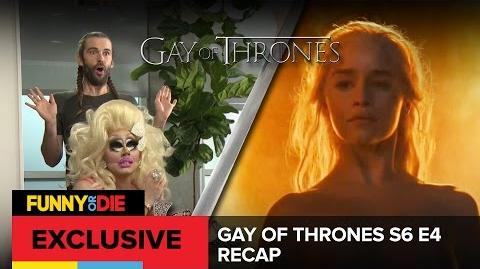 Gay Of Thrones S6 E4- Thrust Of The Stranger