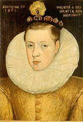 170px-James VI of Scotland aged 20, 1586.