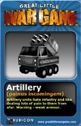 GLWG trading card artillery