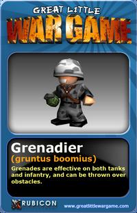 GLWG trading card Grenadier