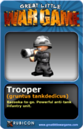 GLWG trading card trooper