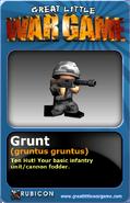 GLWG trading card Grunt