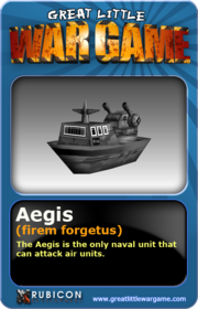 GLWG trading card aegis