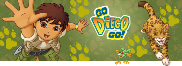 Nickelodeon Nick Jr Go Diego Go Show Banner