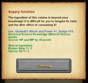 Cooking - Supply Solution