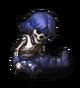 Останки солдата (сине-фиолетовые волосы)