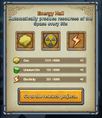 Energy Hall Interface