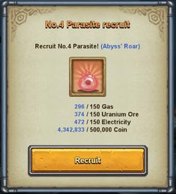 Parasite 4 recruit