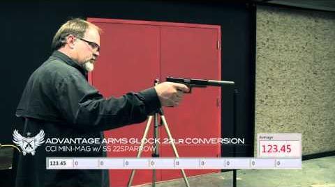 SILENCERCO Advantage Arms Glock .22lr Conversion w SS 22Sparrow