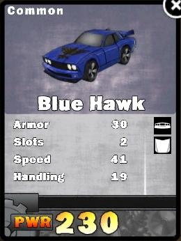 Blue hawk card