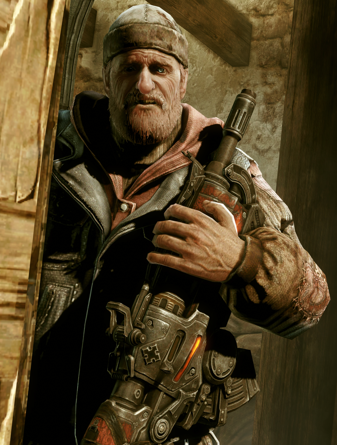Unidentified Stranded Old Man Mercy Gears Of War Fandom