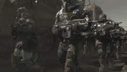 Gear in Dom's Armor.