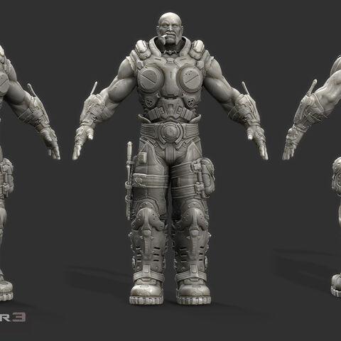 Modelo 3D sin terminar de Barrick.