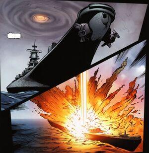 HammerBlowingUpShip