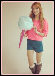 Bella with giant candy floss