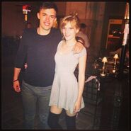 Bella-thorne-grey-dress-with-a-male-pal