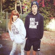 Bella-thorne-matching-hoodies
