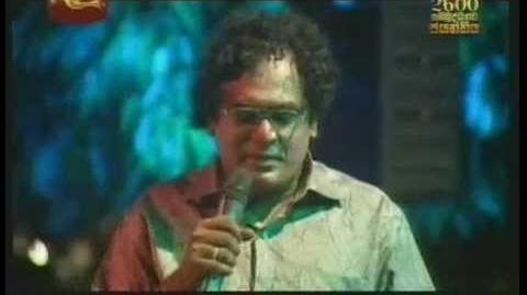 *Hanthanata Payana Sanda*Dammika Bandara explaining the souce of Lyrics