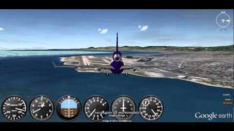 GEFS Online MD-11 Crosswind Landing at 22L At Nice