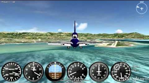 GEFS Online -- Extreme Crosswind Landing MD-11 Nice Côte D'Azur 04R HD