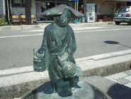 Kawauso statue