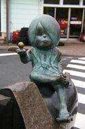 Kitarou and Medama Oyaji statue