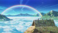 Arco íris na cada de makura gaeshi