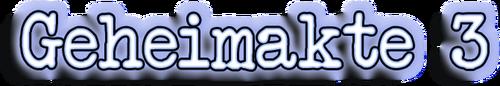 Geheimakte 3 Logo