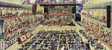 1280px-Odori Keiyō Edo-e no sakae by Toyokuni III