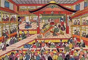 Shibai Ukie by Masanobu Okumura