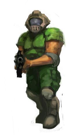 Doom guy speedpaint by gausswerks-d4lzm8d