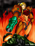 Samus Aran beats Master Chief by Dand01