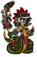 Quetzalcoatl Girl by JusterNeko