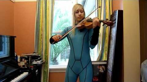 Lara Samus plays BRINSTAR from Metroid on violin in Zero Suit!!