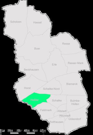 Karte Gelsenkirchen Hessler