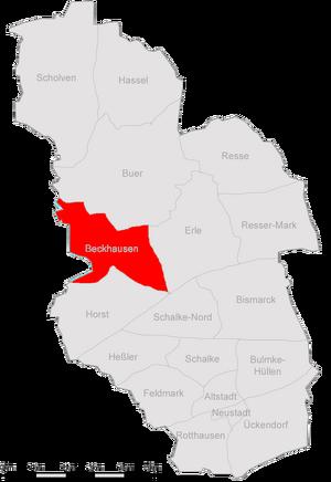 Karte Gelsenkirchen Beckhausen