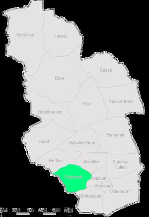 Karte Gelsenkirchen Feldmark