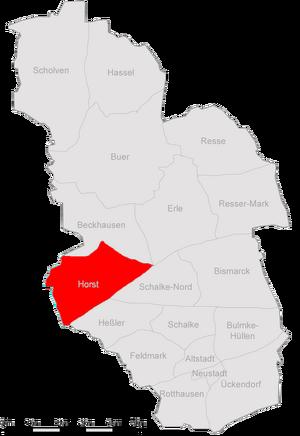 Karte Gelsenkirchen Horst