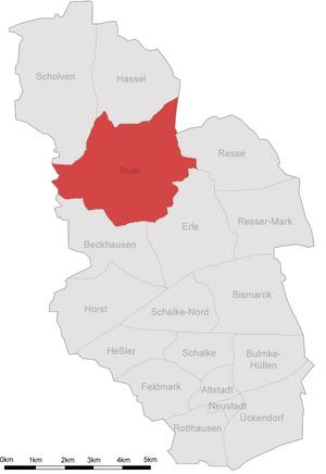 Karte Gelsenkirchen Buer