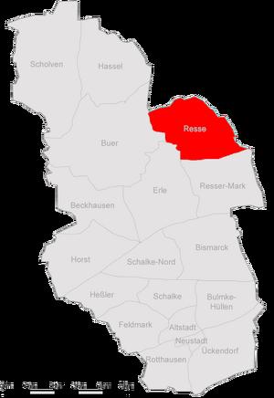 Karte Gelsenkirchen Resse