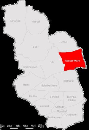 Karte Gelsenkirchen Resser-Mark