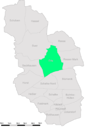 Karte Gelsenkirchen Erle