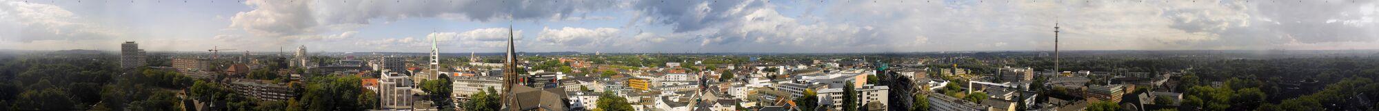 Gelsenkirchen Altstadt Panorama