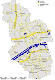 Karte Gelsenkirchen Strassen