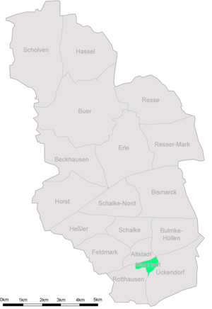 Karte Gelsenkirchen Neustadt