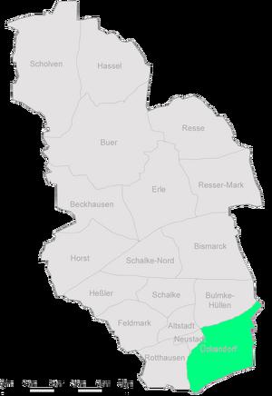 Karte Gelsenkirchen Ueckendorf