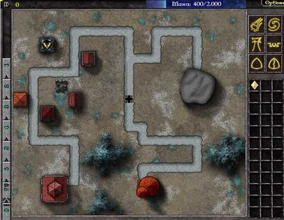 Gemcraft Chapter 0 Level 4 Map