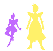 Yellow Diamond and Violet Diamond size comparison